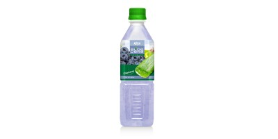 Aloe vera with blueberry flavor 500ml Pet Bottle
