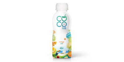 Coconut water fresh with orange